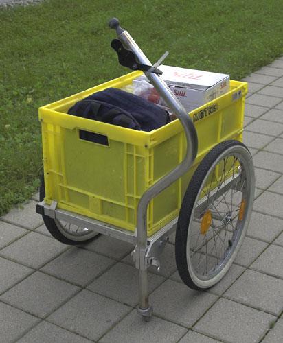lastenanh nger mit klappdeichsel fahrradzukunft ausgabe 11. Black Bedroom Furniture Sets. Home Design Ideas